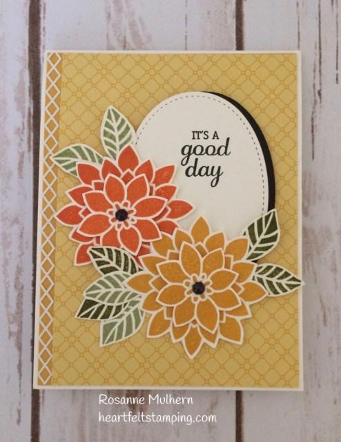 Stampin Up Flourishing Phrases Birthday Cards Idea - Rosanne Mulhern Heartfelt Stamping
