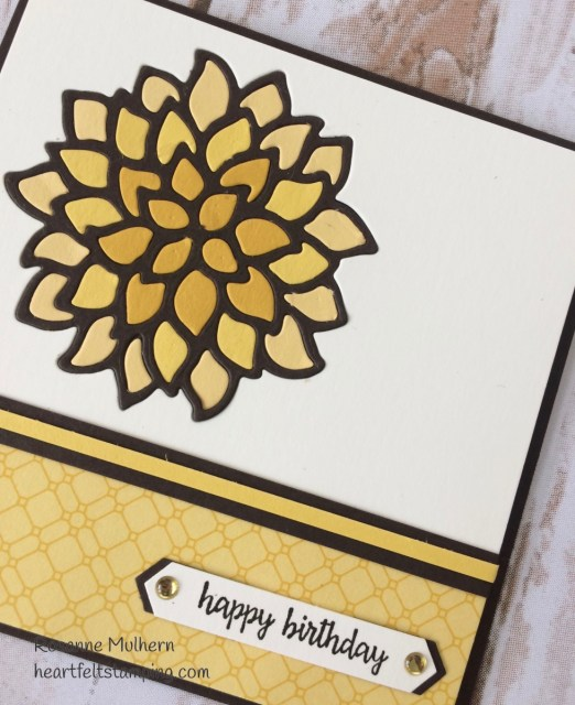 Stampin Up May Flowers Fall Birthday Card Idea- Rosanne Mulhern Heartfelt Stamping