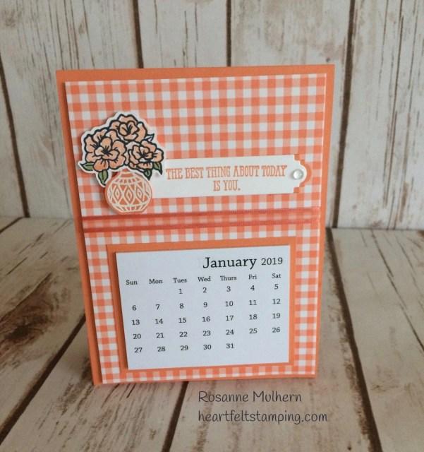 Stampin Up Vibrant Vases Calendar- Rosanne Mulhern Heartfelt Stamping