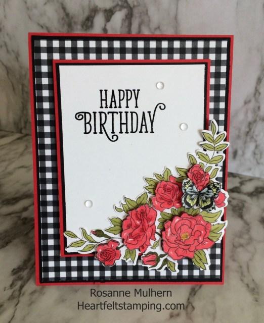 Stampin Up Climbing Roses Birthday Card Ideas - Rosanne Mulhern Heartfelt Stamping
