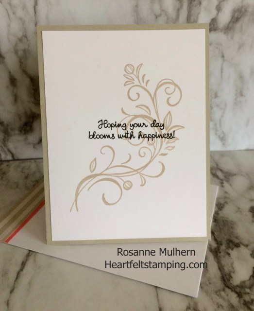 Stampin Up Falling Flowers Birthday Card Ideas - Rosanne Mulhern Heartfelt Stamping