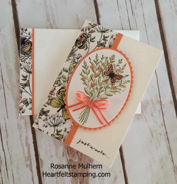 Stampin Up Wishing You Well Note Cards -Rosanne Mulhern Heartfelt Stamping