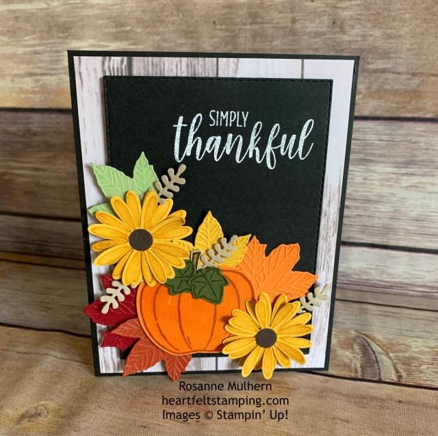 Stampin Up Thanksgiving Card Idea -Rosanne Mulhern stampinup