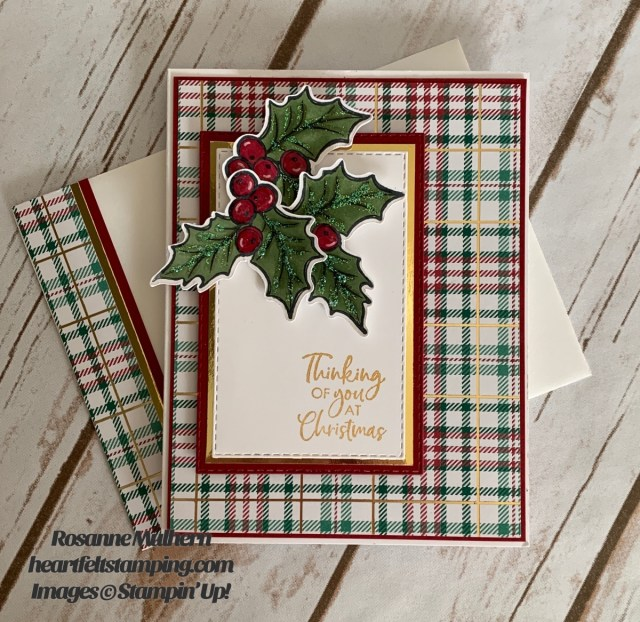 Stampin Up Brightly Gleaming Christmas Card Ideas - Rosanne Mulhern stampinup