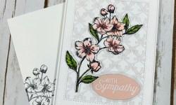 Stampin Up Forever Blossoms Sympathy Card Idea - Rosanne Mulhern stampinup