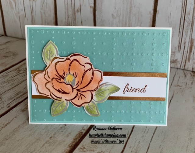 Stampin up Flowering Foils Note Cards -Rosanne Mulhern stampinup
