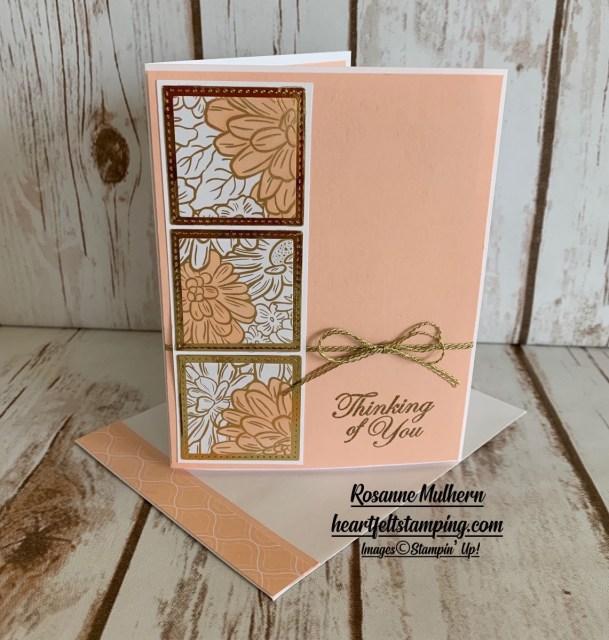 Petal Pink Peek with Ornate Garden Card Idea - Rosanne Mulhern stampinup