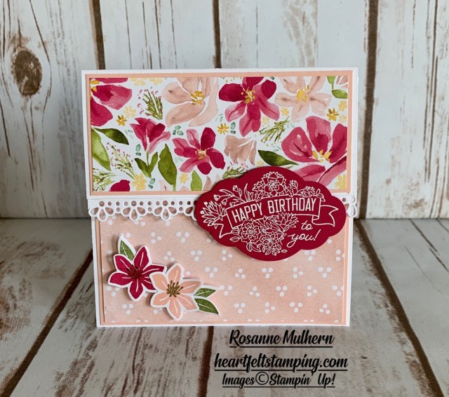 Special Occasion Gift Card Holder Ideas -Rosanne Mulhern stampin up