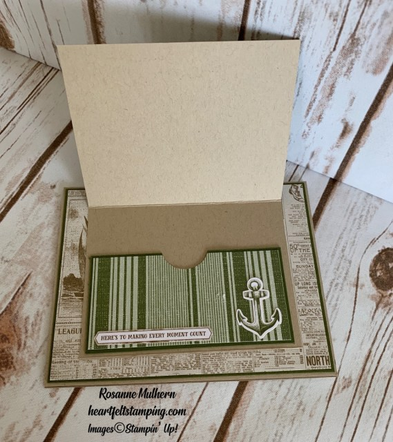 Come Sail Away Memories & More Father's Day card -Rosanne Mulhern stampinup