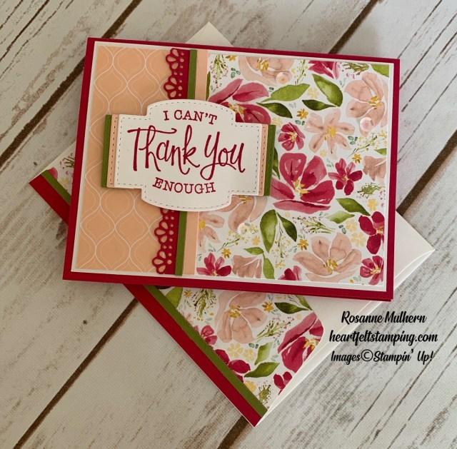 Stampin Up So Sentimental Get Well Card Idea-Rosanne Mulhern stampinup