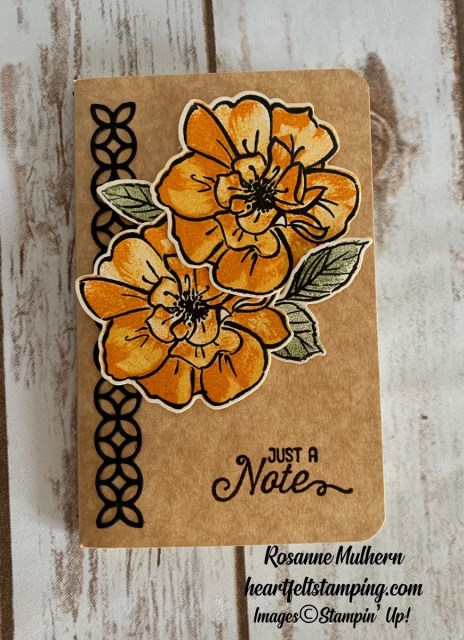 Stampin Up To A Wild Rose Notebook - Rosanne Mulhern stampinup