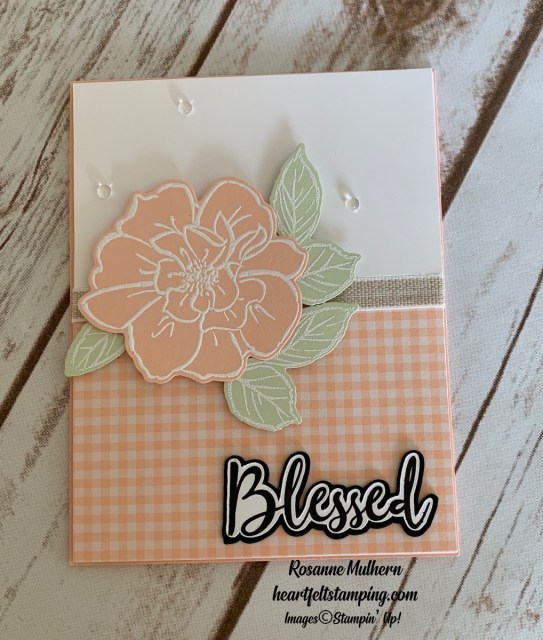 To A Wild Rose Friendship Card Idea Rosanne Mulhern stampinup