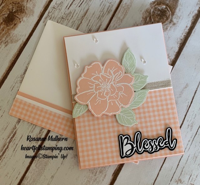 To A Wild Rose Friendship Card Idea -Rosanne Mulhern stampinup