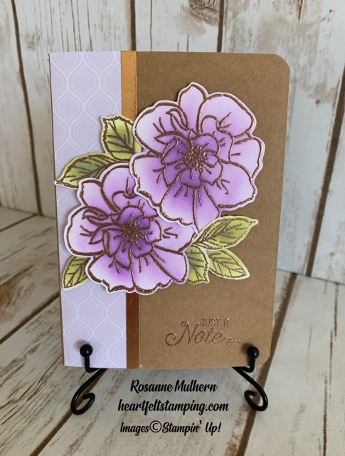 To a Wild Rose Congratulations Cards Idea - Rosanne Mulhern stampinup