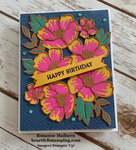 Stampin Up Blossoms in Bloom Birthday Card Idea - Rosanne Mulhern stampinup