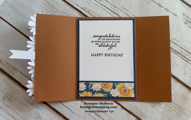 Stampin Up Flowers for Every Season Birthday Card Idea -Rosanne Mulhern stampinup