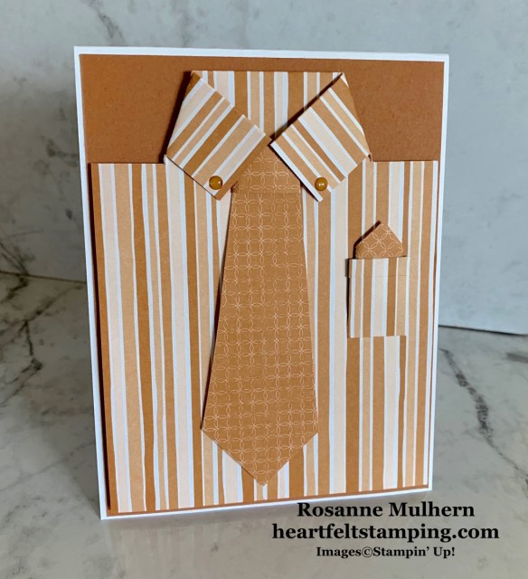 Stampin Up Flowers for Every Season Masculine card idea -Rosanne Mulhern stampinup