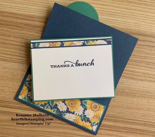 Stampin Up Flowers for Every Season Thank You Card Idea- Rosanne Mulhern stampinup