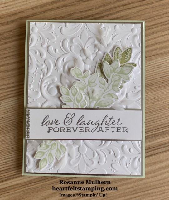 Stampin Up Forever Fern Wedding Card Idea -Rosanne Mulhern stampinup