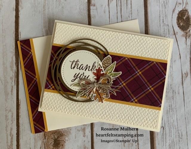 Stampin Up Beautiful Autumn Thank You Note - Rosanne Mulhern stampinup