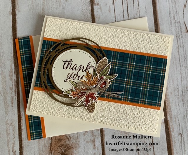 Stampin Up Beautiful Autumn Thank You Notes- Rosanne Mulhern stampinup