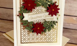 Stampin Up Arrange a Wreath Christmas Card - Rosanne Mulhern
