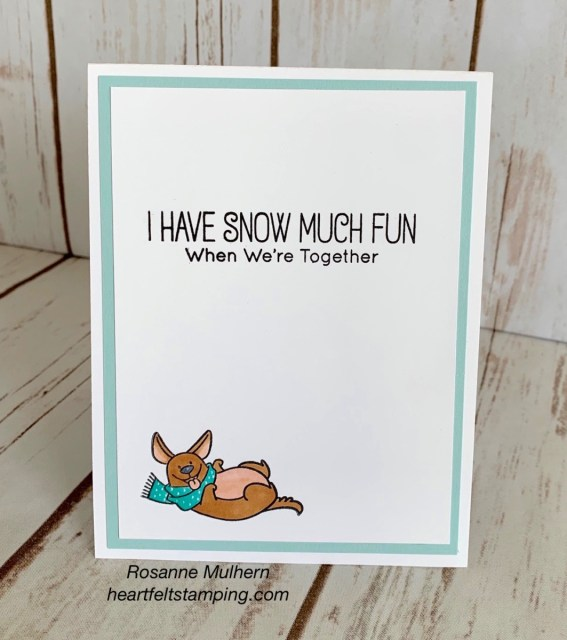 My Favorite Things Snow Buddy Just Because Card- Rosanne Mulhern