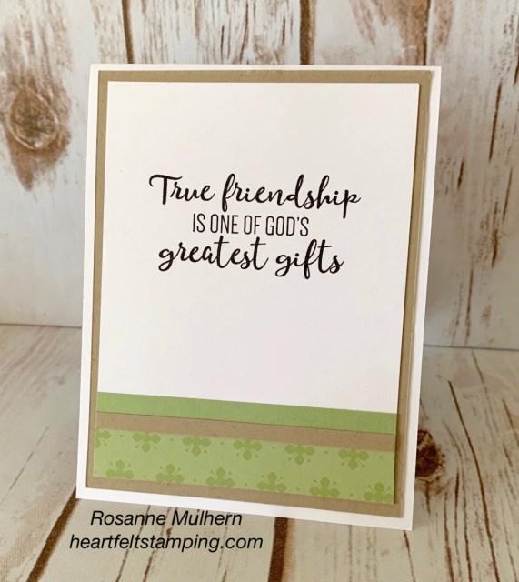 Stampin Up Blessed Friendship Card - Rosanne Mulhern stampinup