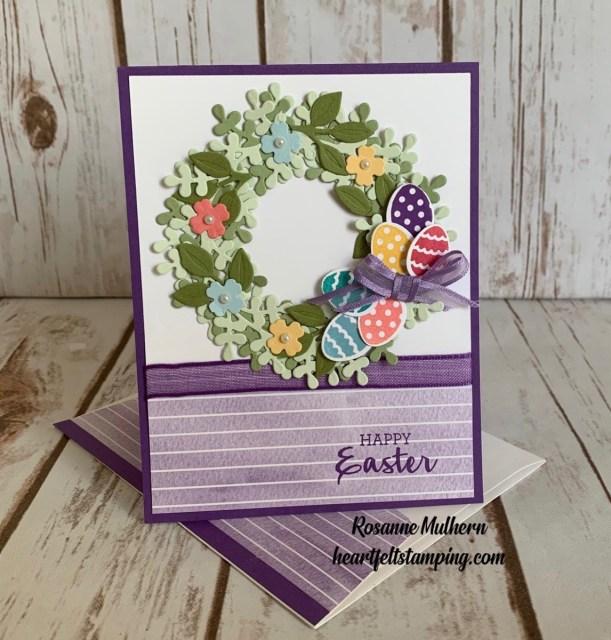 Stampin Up Arrange a Wreath Easter Cards Ideas- Rosanne Mulhern stampinup