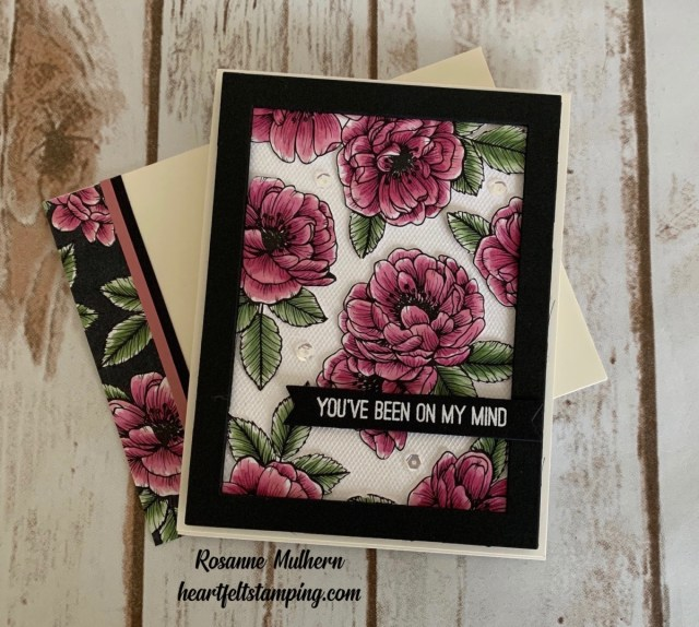 Stampin Up True Love Friendship Card with Tulle-Rosanne Mulhern stampinup