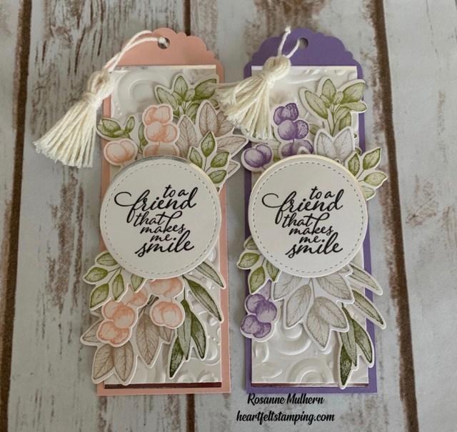 Stampin Up Forever Fern Friendship Bookmark Idea- Rosanne Mulhern stampinup