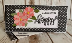 Stampin Up Pierced Blooms Just Because Card - Rosanne Mulhern stampinup