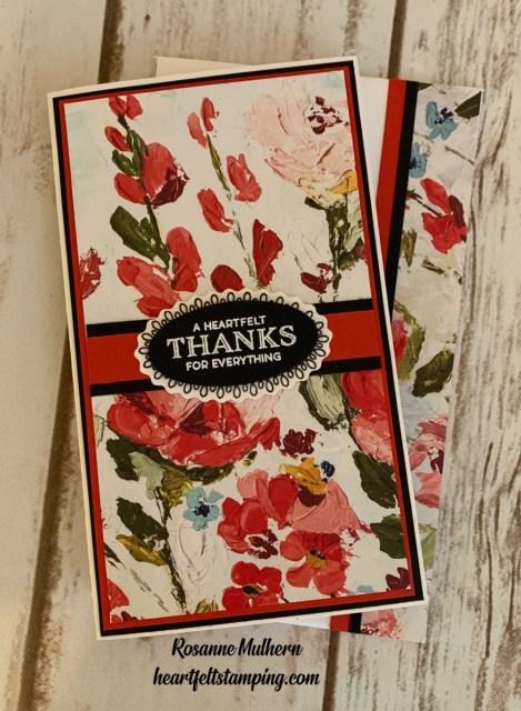 Stampin Up Fine Art Floral Mini Slimline Card Idea - Rosanne Mulhern stampinup