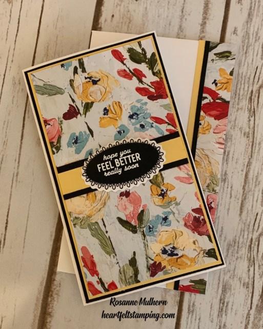 Stampin Up Fine Art Floral Mini Slimline Card Ideas -Rosanne Mulhern stampinup
