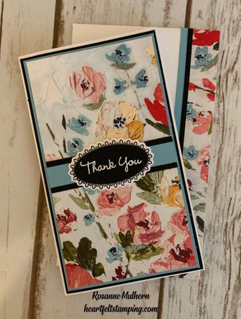 Stampin Up Fine Art Floral Mini Slimline Card Ideas- Rosanne Mulhern stampinup