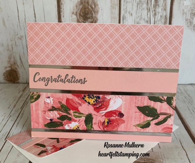 Stampin Up Fine Art Foral Congratulations Card Idea - Rosanne Mulhern stampinup
