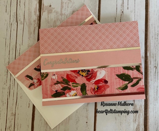 Stampin Up Fine Art Foral Congratulations Cards Ideas - Rosanne Mulhern stampinup