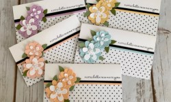 Stampin Up Pierced Blooms Just Because Card Idea - Rosanne Mulhern stampinup