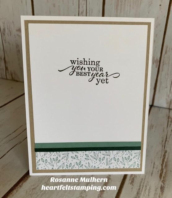 Stampin Up Biggest Wish Birthday Card Idea- Rosanne Mulhern stampinup