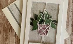 Stampin Up Plentiful Plants Window Thank You Card - Rosanne Mulhern stampinup