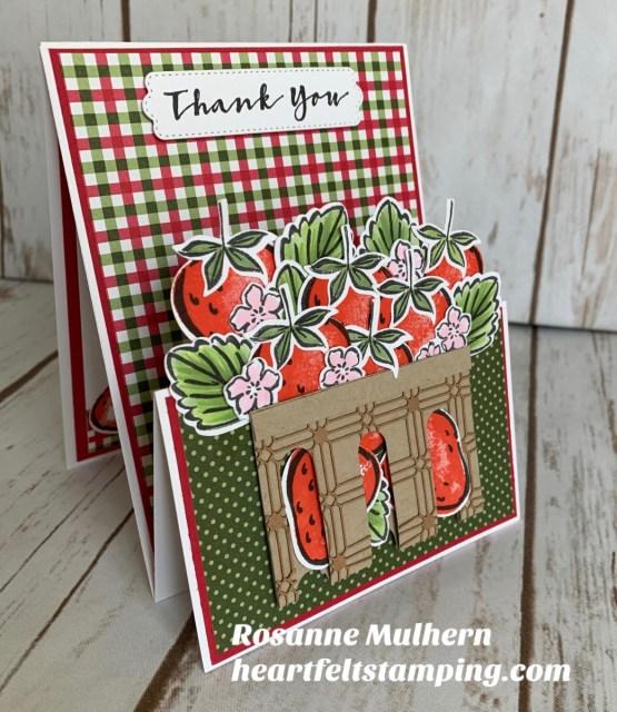 Stampin Up Sweet Strawberry Z Fold Gift Card Holder -Rosanne Mulhern stampinup