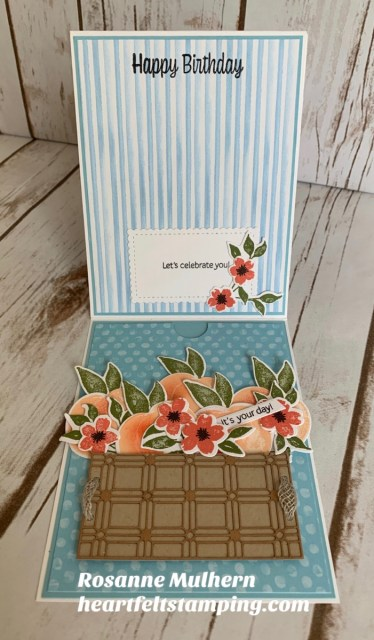 Stampin Up Sweet as a Peach Z Fold Gift Card Holder- Rosanne Mulhern stampinup