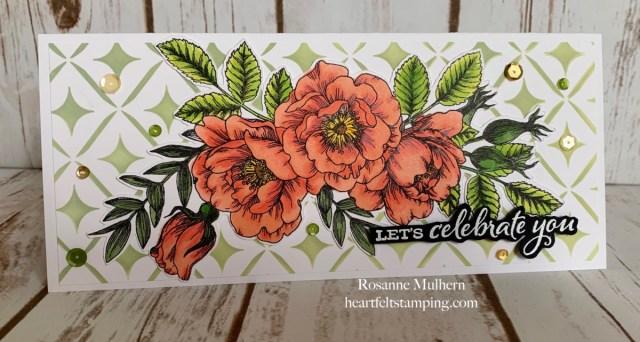 Simon Says Stamps Beautiful Flowers Birthday Card - Rosanne Mulhern