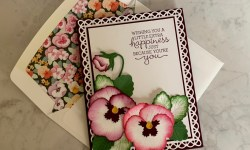 Stampin Up Pansy Patch Birthday Card Idea - Rosanne Mulhern