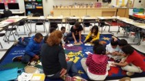 SH4R member volunteering at the after school program at a local elementary school.