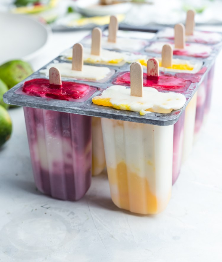 Vegan Yogurt Fruit Popsicles