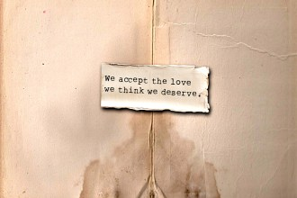 Image of words on torn paper, used on blog about picking the wrong men