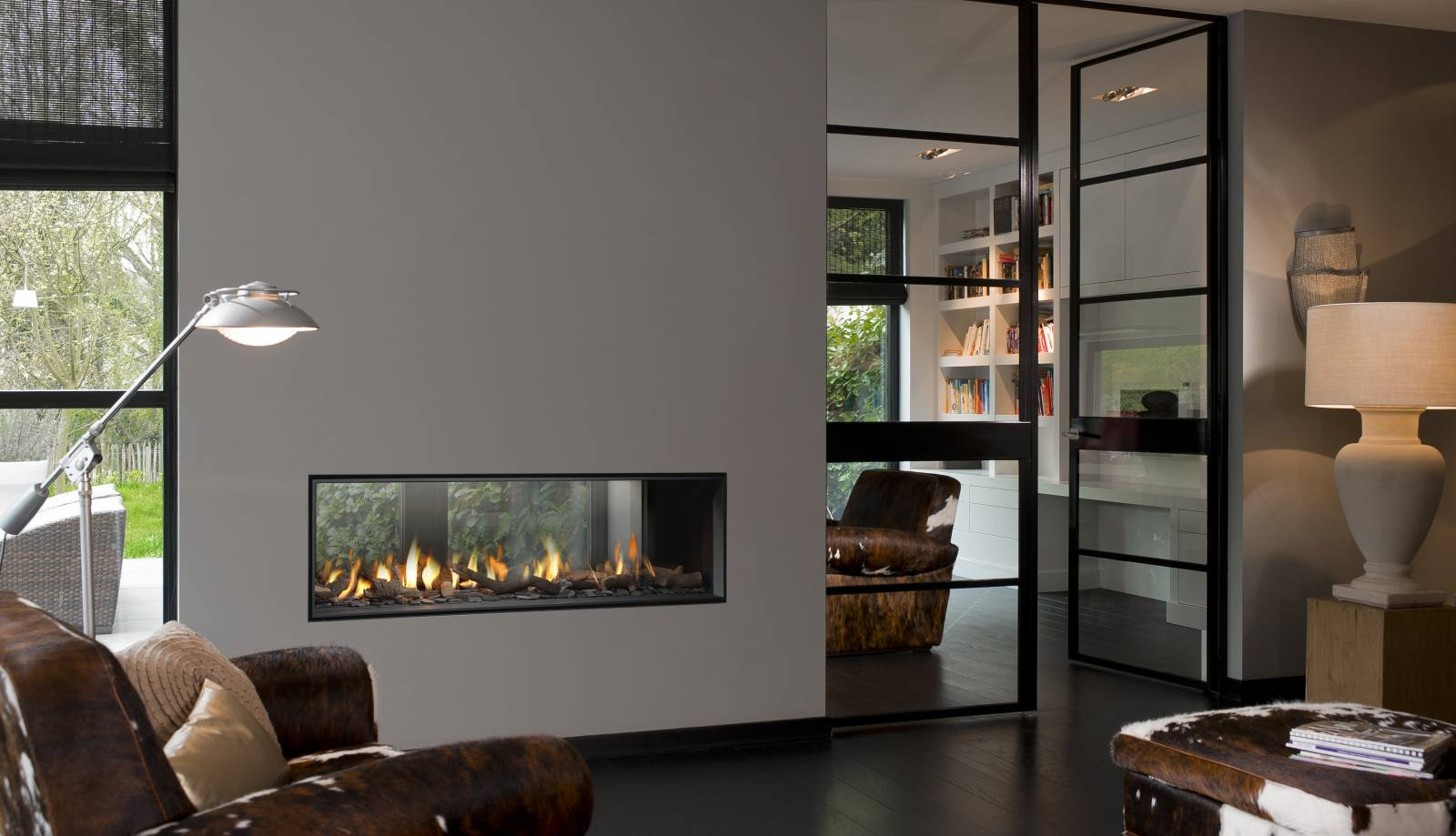 Double Sided Fireplaces In Calgary