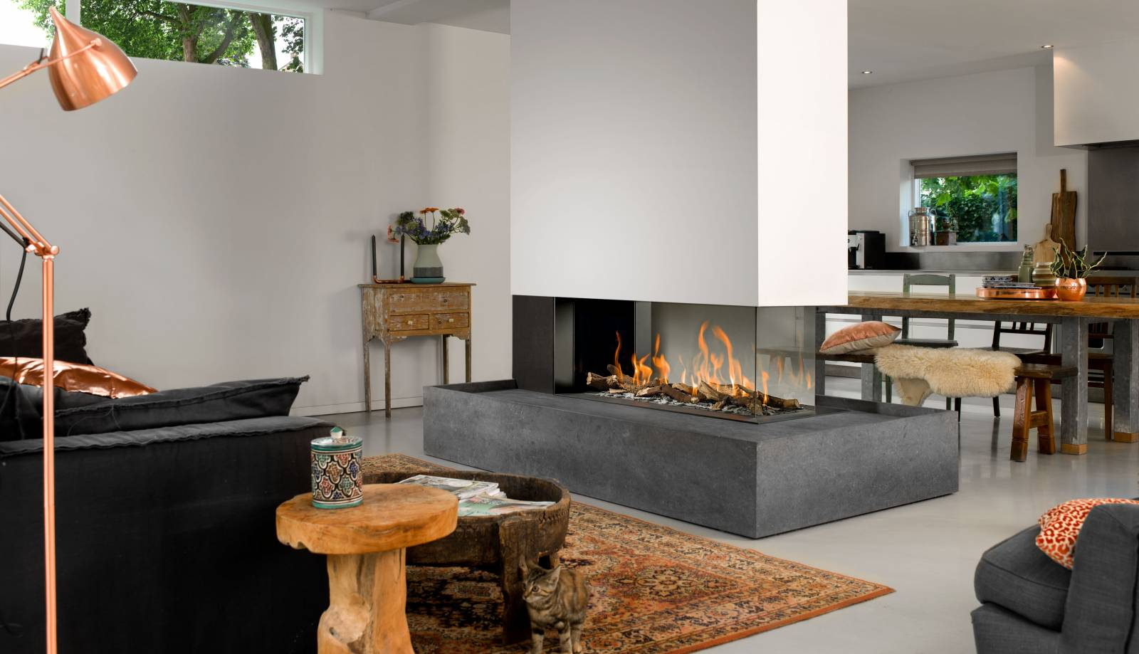 3 Sided Fireplaces In Calgary