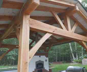 White Oak Frame for Outdoor Kitchen.  Outdoor Kitchen by Homestead Heat.